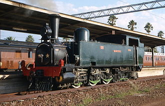South African Class B 0-6-4T - NZASM 46 Tonner no. 230 Jan Wintervogel at Witbank, Transvaal, April 1993
