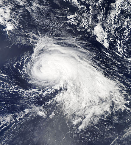 Hurricane Nadine at its initial peak intensity on September 15 Nadine Sept 15 2012 1610Z.jpg