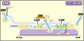 Nagoya Dome-mae Yada station map Nagoya subway's Meijo line 2014.png
