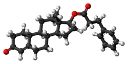Nandrolone phenylpropionate molecule ball.png