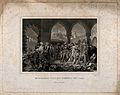 Napoleon Bonaparte visiting plague-stricken soldiers at Jaff Wellcome V0010631.jpg