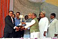 Narendra Modi at the dedication ceremony of the Rourkela Steel Plant to the Nation, in Odisha. The Chief Minister of Odisha, Shri Naveen Patnaik, the Union Minister for Mines and Steel, Shri Narendra Singh Tomar.jpg
