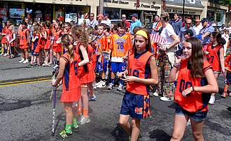 Police Athletic League - PAL lacrosse players on parade