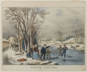 Frances Flora Bond Palmer - Winter Pastime, 1855. Brooklyn Museum