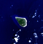 Navassa Island - NASA NLT Landsat 7 (visible color) satellite image
