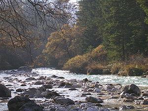 Mojstrana - Image: Nebula on river Bistrica