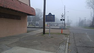 Greenville, Mississippi - Nelson Street Mississippi Blues Trail Marker