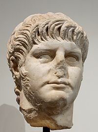 Marble bust of Nero, Antiquarium of the Palatine.