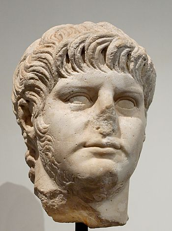 English: Portrait of Nero. Marble, Roman artwo...
