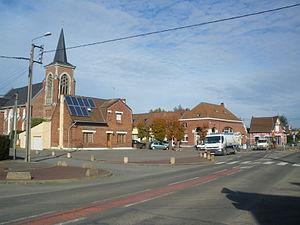Neuve-Chapelle - The centre of Neuve-Chapelle
