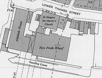 Fresh Wharf - Map of New Fresh Wharf, 1950s