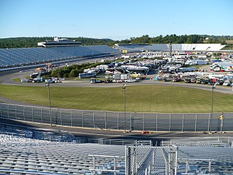 2014 Camping World RV Sales 301 - New Hampshire Motor Speedway's infield and front straightaway from turn two grandstands.