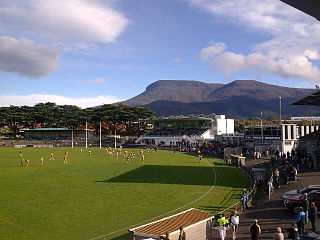 KGV Oval Sports stadium in Hobart, Tasmania