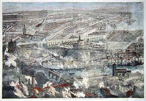 Great fire of Newcastle and Gateshead - Image: Newcastle and Gateshead Great Fire 1854 Illustrated London News