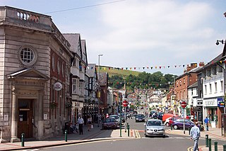 Newtown, Powys town in Wales