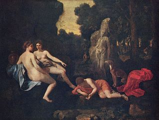 Narcissus with Two Nymphs and Echo