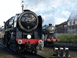 No.70013 Oliver Cromwell Britannia Class 7MT & no.1744 (BR No. 69523) GNR Class N2 (6779067095) (2).jpg