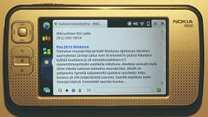 Nokia N800 Internet Tablet with open source so...