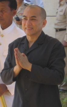 His Majesty Norodom Sihamoni on February 12, 2007 during a visit to Sihanoukville, Cambodia.