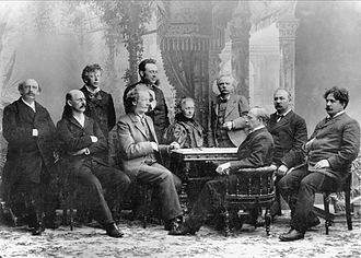 Johan Svendsen - Image: Norske komponister ved Musikkfesten i Bergen, 1898