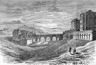 History of the North British Railway (until 1855) - The Nor' Loch and the North Bridge in 1809