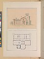 North Front and Second Floor Plan of John Munn House, Utica, New York MET DP269359.jpg