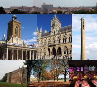"From top left: Skyline of Northampton town centre from Delapre Park; <a href=""http://search.lycos.com/web/?_z=0&q=%22All%20Saints%27%20Church%2C%20Northampton%22"">All Saints' Church</a>; <a href=""http://search.lycos.com/web/?_z=0&q=%22Northampton%20Guildhall%22"">Northampton Guildhall</a>; the <a href=""http://search.lycos.com/web/?_z=0&q=%22National%20Lift%20Tower%22"">National Lift Tower</a>; <a href=""http://search.lycos.com/web/?_z=0&q=%22Delapr%C3%A9%20Abbey%22"">Delapré Abbey</a>; <a href=""http://search.lycos.com/web/?_z=0&q=%22Abington%20Park%22"">Abington Park</a>; Market Square."