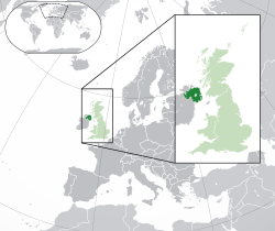 Northern Ireland in the UK and Europe.svg
