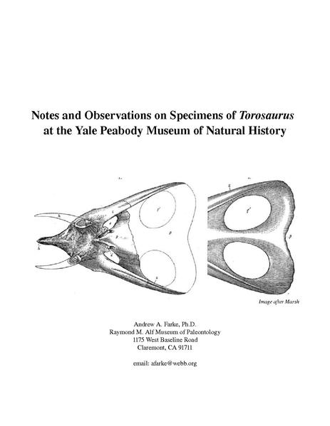 File:Notes and Observations on Specimens of Torosaurus at