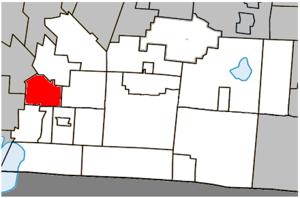 Notre-Dame-de-Stanbridge - Image: Notre Dame de Stanbridge Quebec location diagram