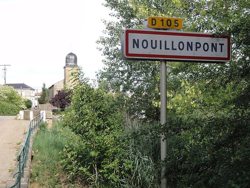 Nouillonpont (Meuse) city limit sign