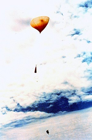 Roswell UFO incident - A National Oceanic and Atmospheric Administration (NOAA) weather balloon after launching