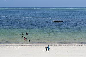 Nyali Beach from the Reef Hotel during high tide in Mombasa, Kenya 9.jpg
