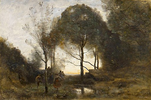 Nymphes et Faunes by Jean-Baptiste-Camille Corot - BMA