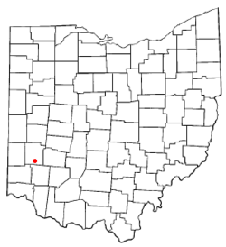 Location of Miamisburg, Ohio