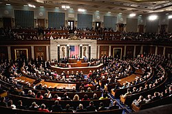 A joint session of the US Congress