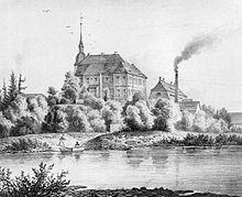 Das Gut Obernitzschka an der Mulde (Quelle: Wikimedia)