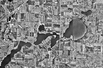 Lake Ocheda (Minnesota) - USGS satellite photo of Lake Ocheda