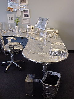 Office foil prank
