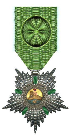 Order of the Lion and the Sun - Image: Officier in de Orde van de Leeuw en de Zon Iran rond 1900 Civiele Divisie