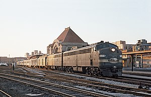 Ohio State Limited - The Ohio State Limited at the Big Four Railroad Depot in Springfield, Ohio