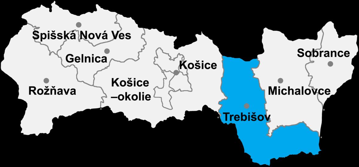 Bildergebnis für Trebisov mapa