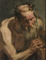 Old Satyr Holding a Flute (Jacob Jordaens) - Nationalmuseum - 17492.tif