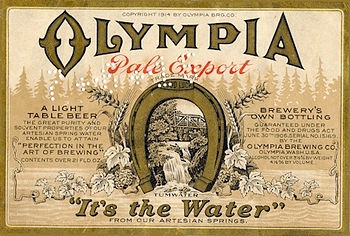 English: Olympia Pale Export beer label from 1...