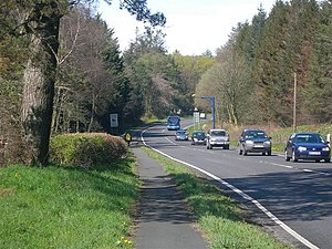 A77 road - Image: On The A77 geograph.org.uk 775879