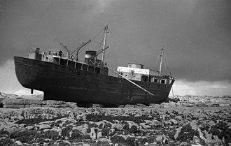 MV Plassy - Image: On the Rocks, Inisheer, Aran Islands 2 geograph.org.uk 637547