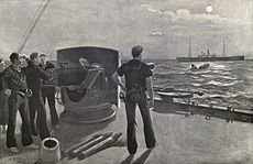 On the blockade off San Juan, Puerto Rico in 1898 during the Spanish–American War