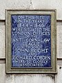 On this site in the years 1844-1846 were situated the London offices of the Anti-Corn Law League.jpg