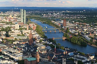 Frankfurt - Top of Main Tower looking East