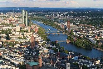 Frankfurt - Top of Main Tower looking East